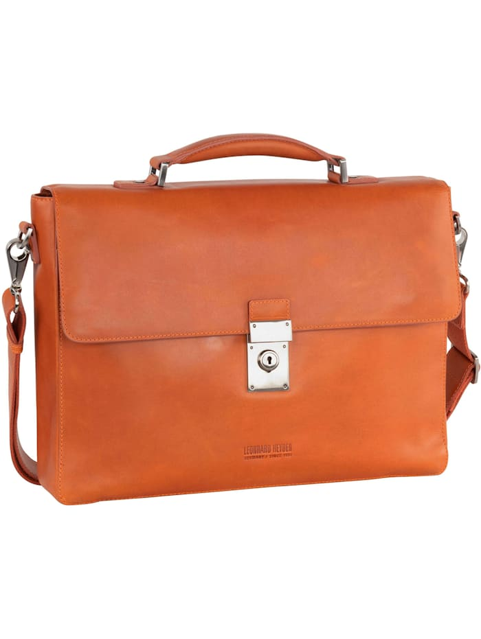 Leonhard Heyden Ottawa Aktentasche RFID Leder 38 cm Laptopfach, orange