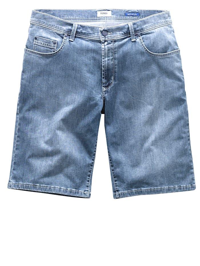 Pioneer Megaflex-jeansbermudashorts Straight fit, Blue stone