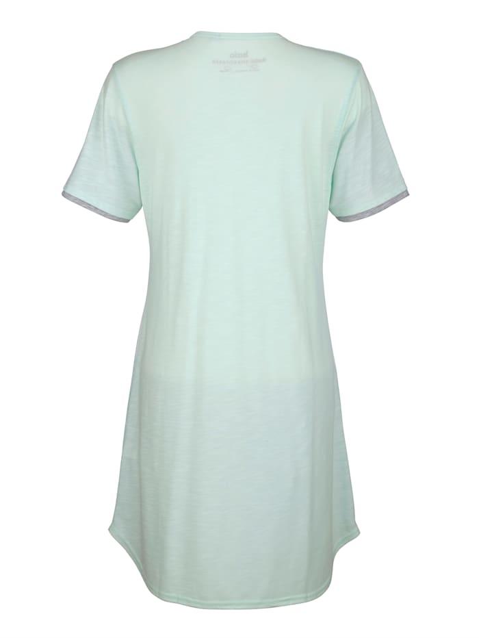 Nachthemd met dubbellaagse mouwzomen