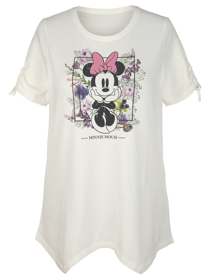 Angel of Style Shirt met Minnie Mouse print, Offwhite/Lila