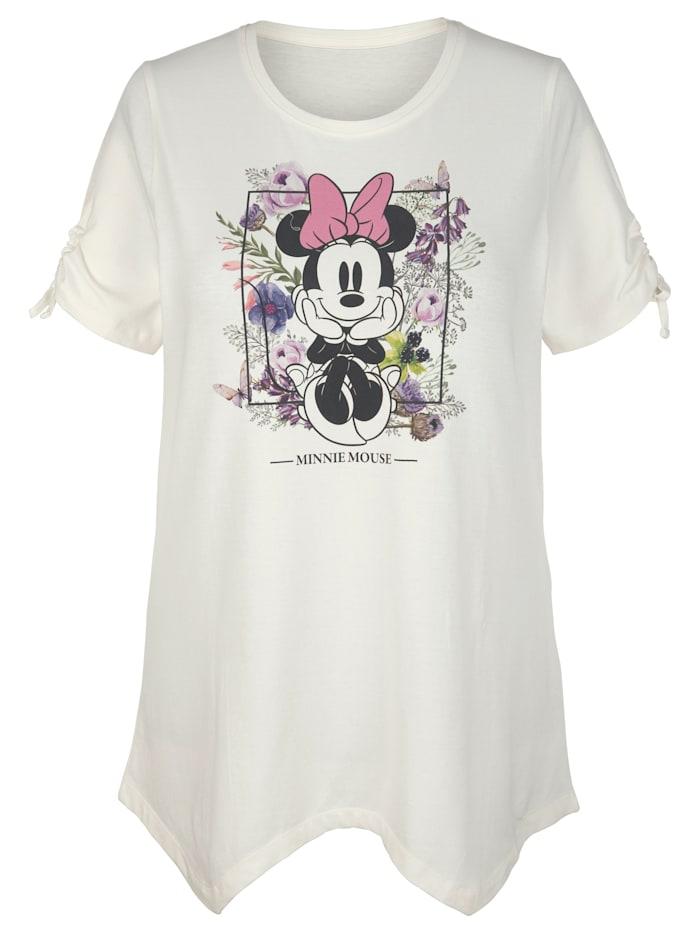 Angel of Style Shirt mit Minniedruck, Off-white/Flieder