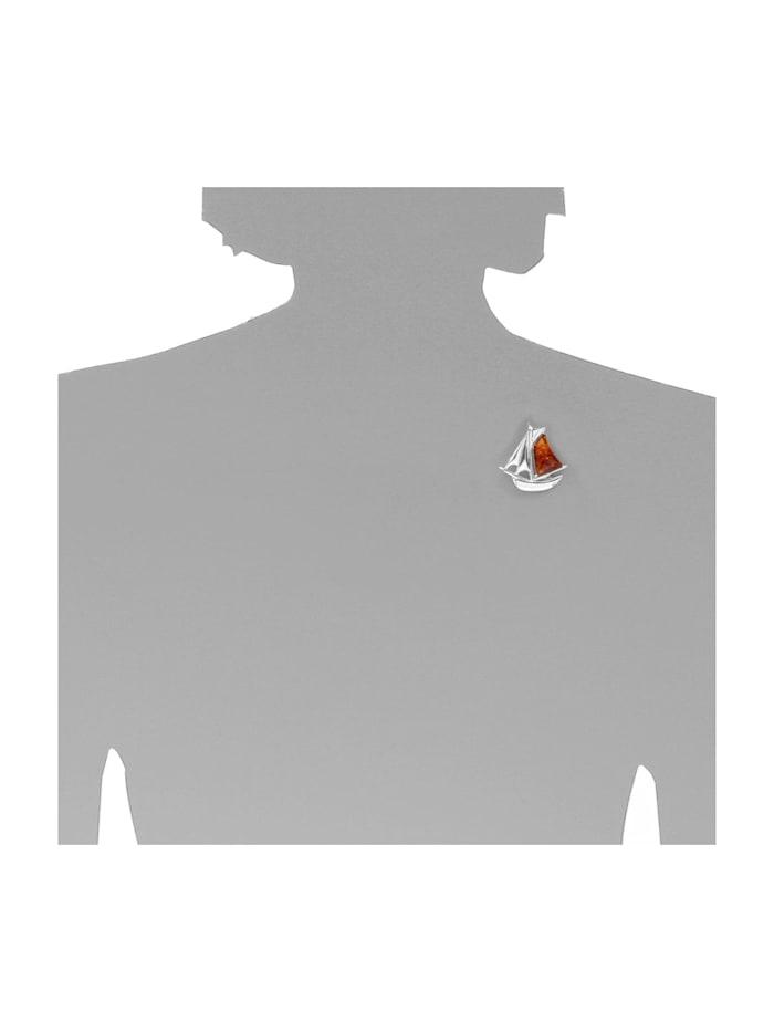 Brosche - Schiff - Silber 925/000 -