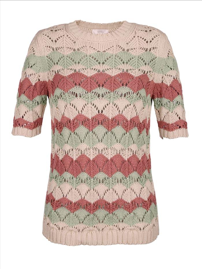 Pullover in Ajourstrick-Qualität