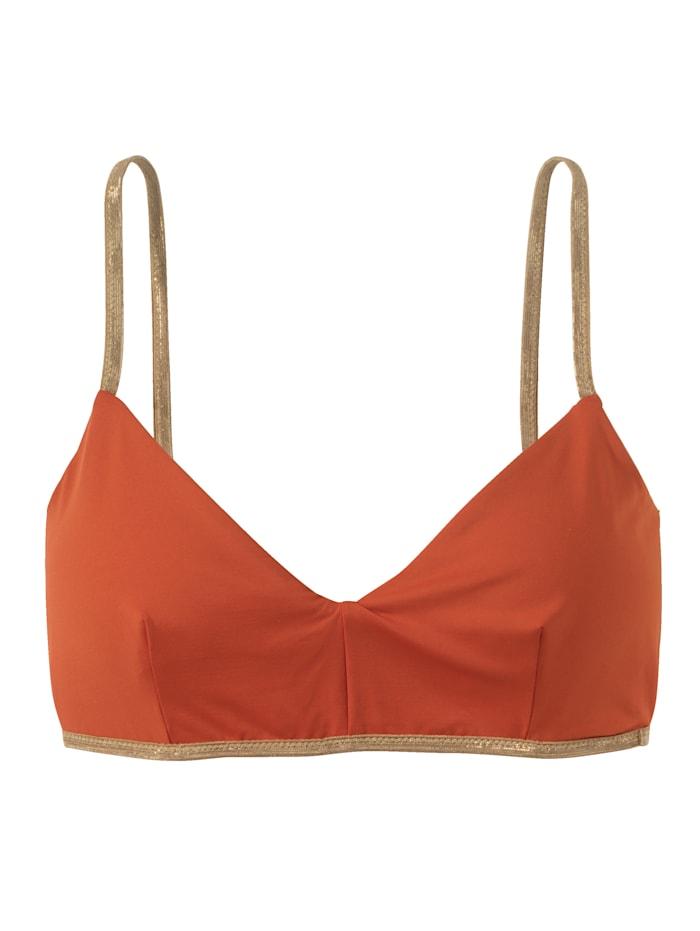 Mymarini Wende-Bikinitop, Orange/Rosé
