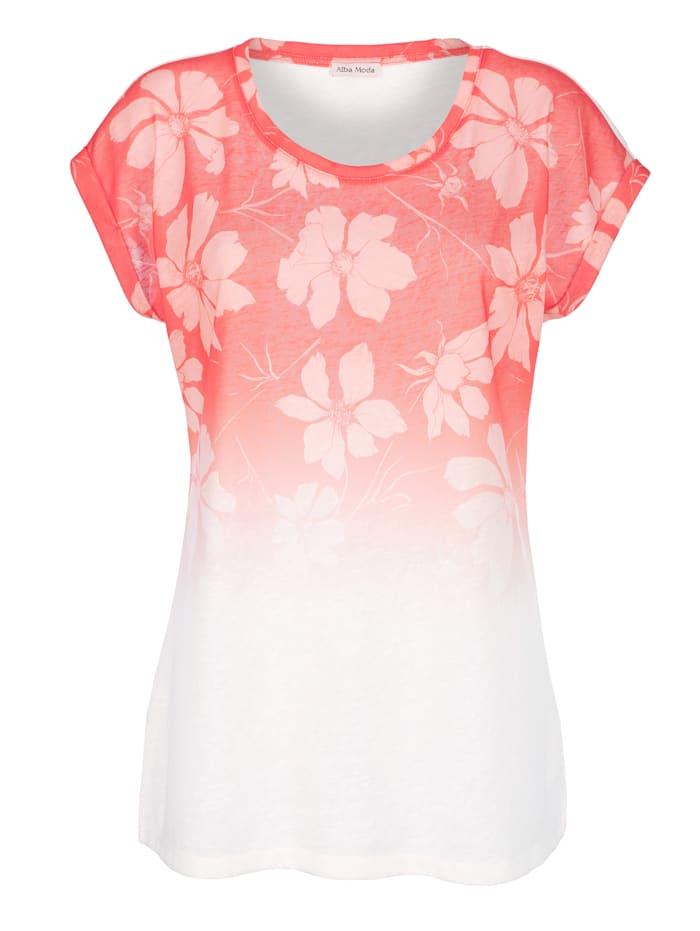 Alba Moda Shirt mit Farbverlauf, Koralle