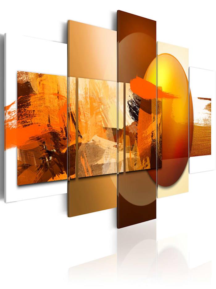 artgeist Wandbild Für und Wider, Weiß,Beige,Braun,Orange