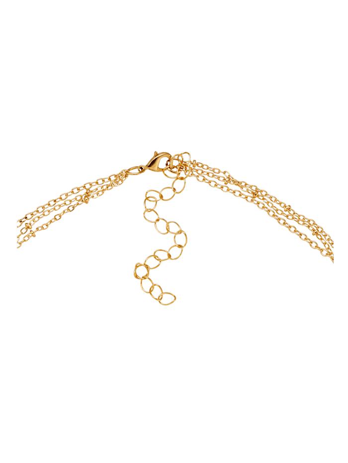 KLiNGEL Halskette mit Muschel, Gelbgoldfarben
