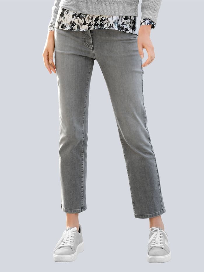 Alba Moda Jeans mit hoher Leibhöhe, Grey
