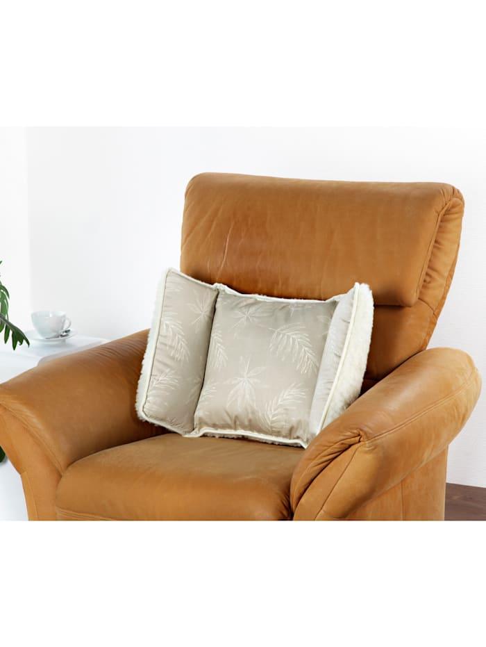 Scheerwollen stoelkussen met 2 kanten