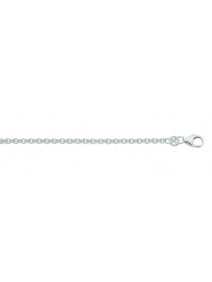 1001 Diamonds Damen Silberschmuck 925 Silber Anker Halskette Ø 2,7 mm, silber