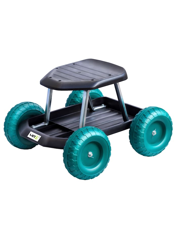 UPP Gartenwagen / Rollsitz, schwarz/grün