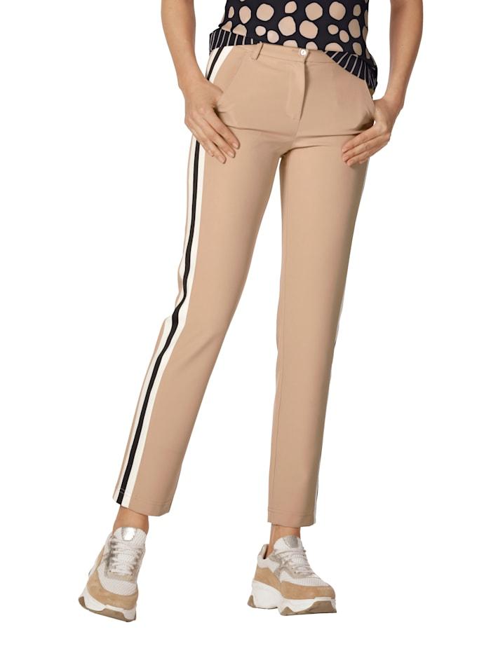 Hose mit zweifarbigem Galonstreifen