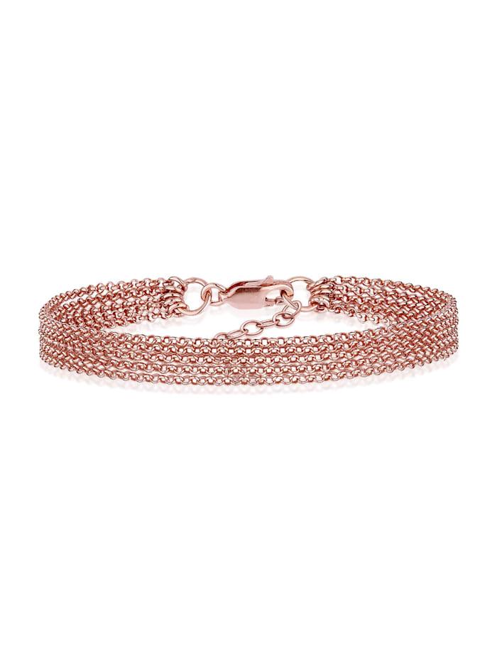 Elli Armband 5-Lagig Basic Ketten Modern 925 Sterling Silber, Rosegold