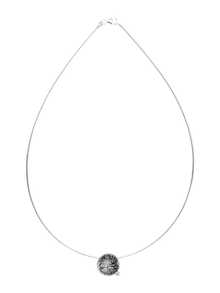 Halsreif mit Anhänger - Gleiter 16 mm-Sarah Vicenza - Silber 925/000 - Zirkonia