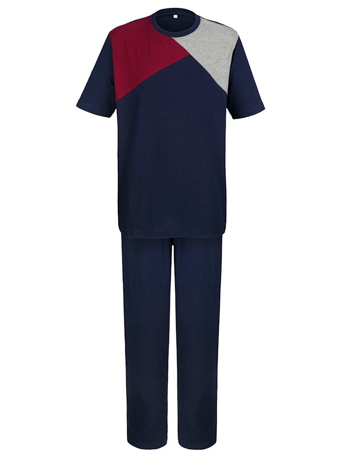 Pyjama in klassieke kleuren, marine