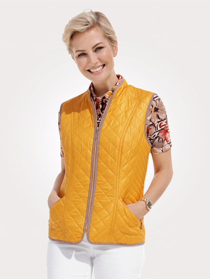 MONA Prešívaná vesta, Žltá