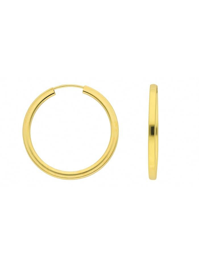 1001 Diamonds Damen Goldschmuck 333 Gold Ohrringe / Creolen Ø 30 mm, gold