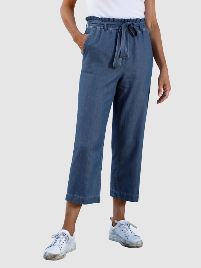 Dress In Jeansculotte met bindbandje, Blauw