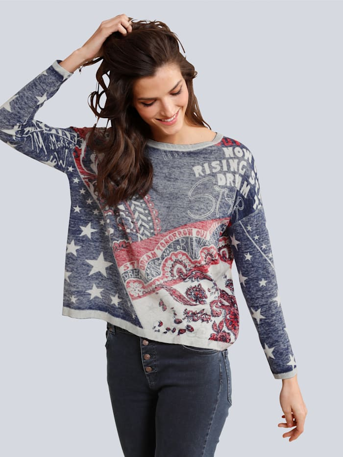 Pullover im Paisley Dessin