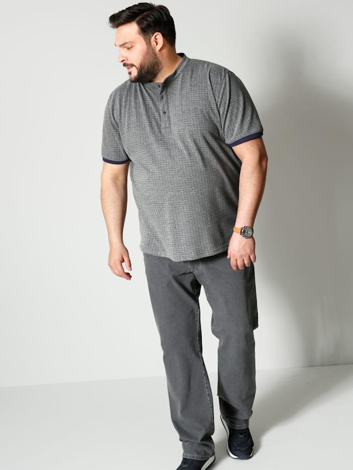 Henleyshirt mit minimal Print