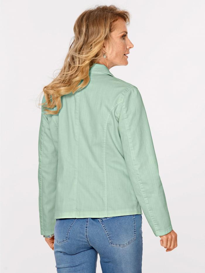 Jeansjacke in Baumwoll-Mischqualität