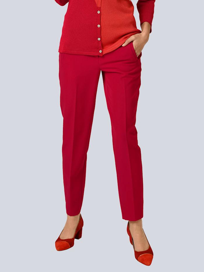 Alba Moda Hose mit modischer Verschlusslösung, Rot