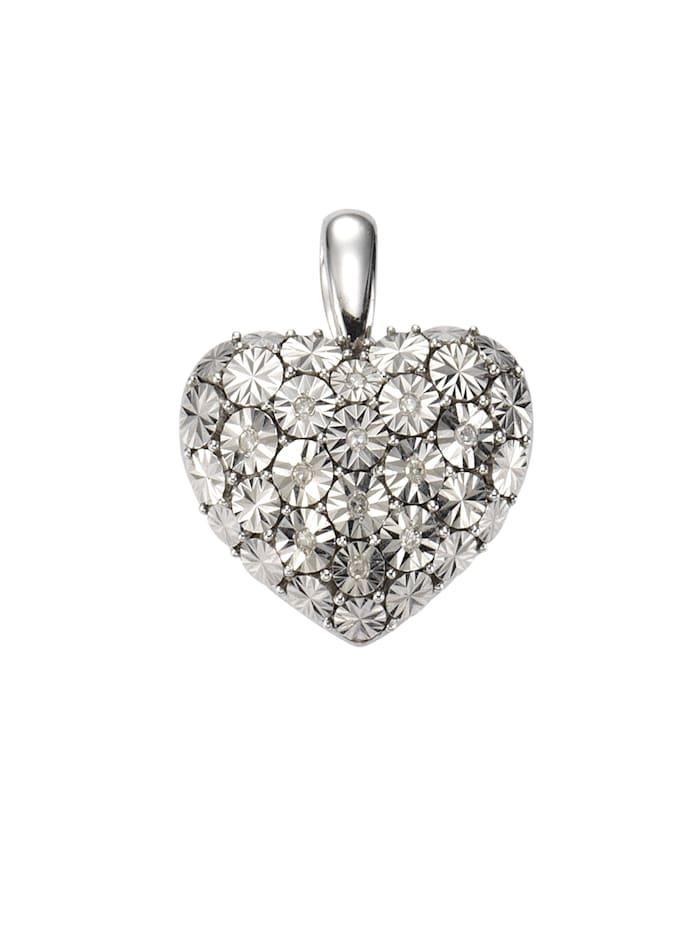 Celesta Anhänger 925/- Sterling Silber Diamant weiß Diamant 2,4cm Glänzend 0,07ct., weiß