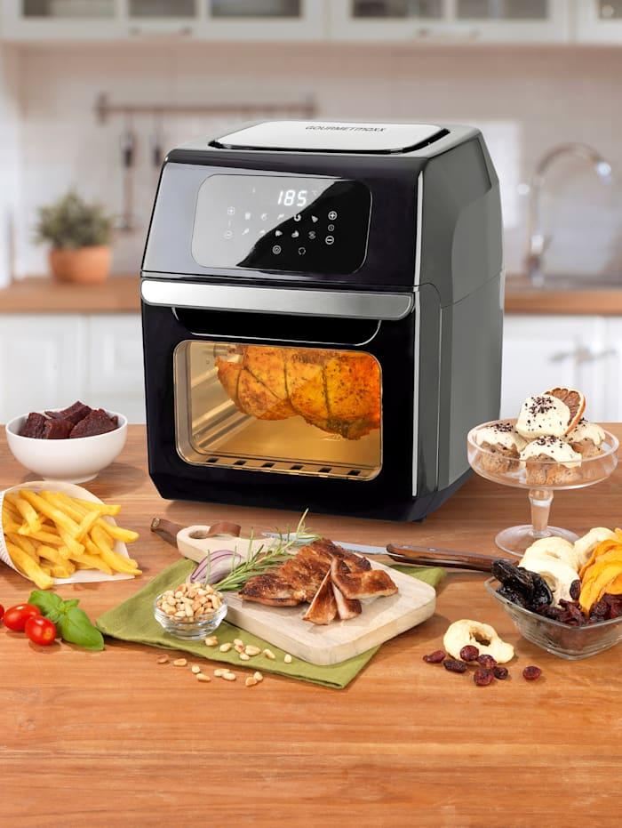 GOURMETmaxx Digitale 10in1 Heißluftfritteuse XL, Fassungsvermögen 12 Liter, 10 Zubereitungs-Programme, schwarz
