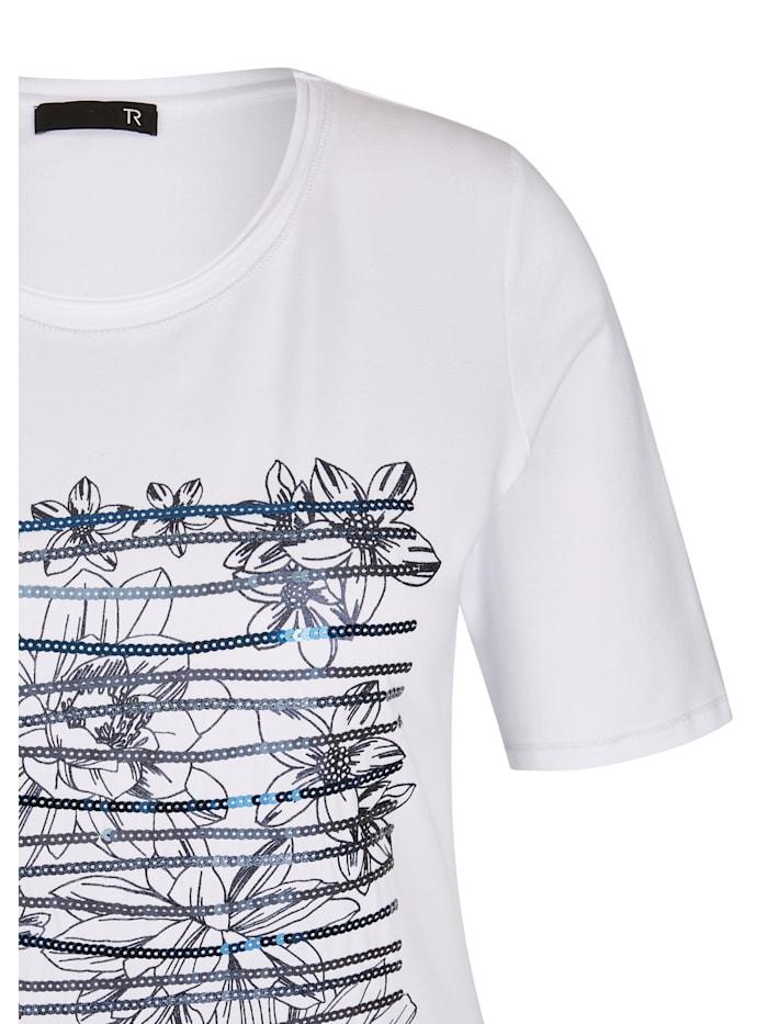Shirt mit floralem Muster und halblangen Ärmeln