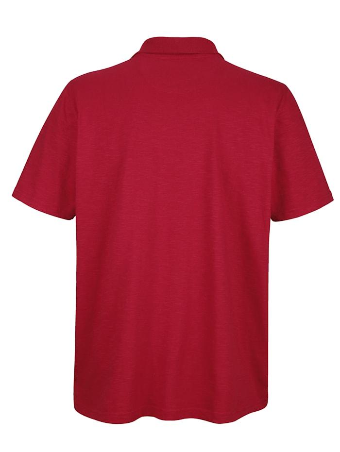 Poloshirt met contrastborduursel
