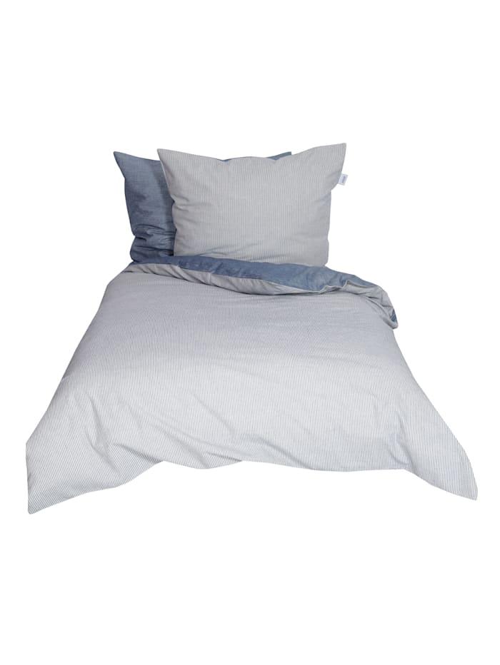 Schöner Wohnen Kollektion Flanell-Bettwäsche, Blau