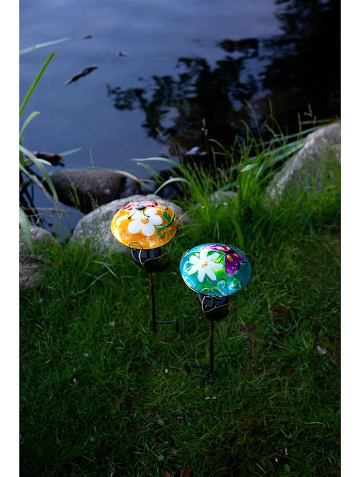 LED-Solarstab Schmetterling