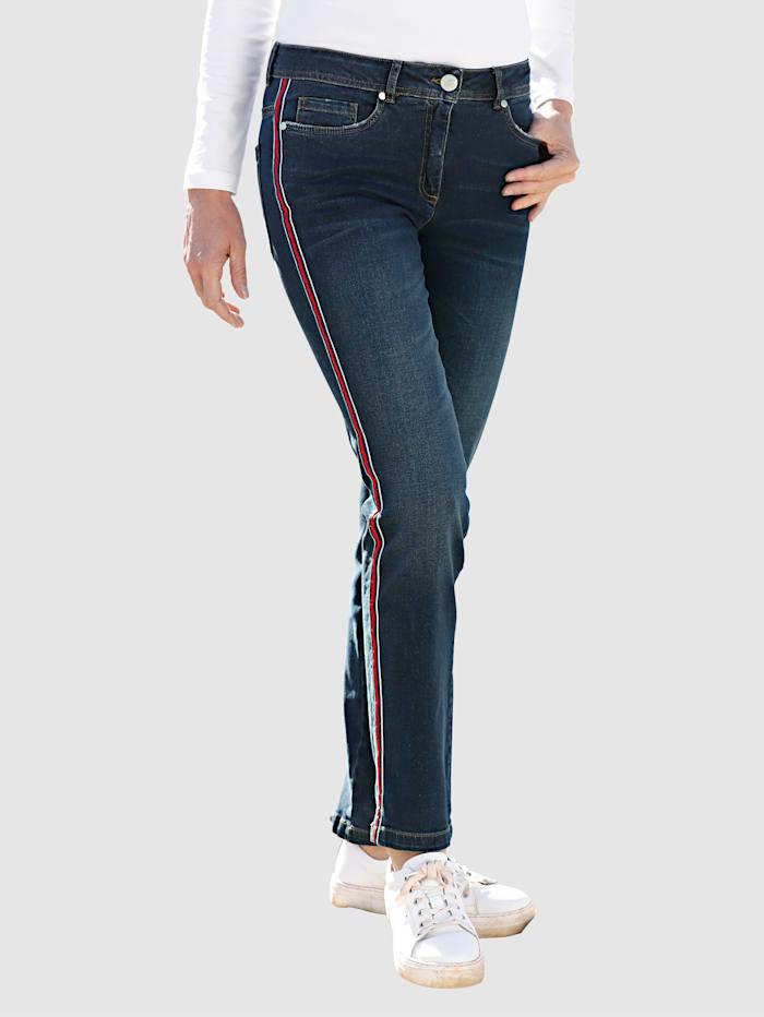 Dress In Jeans Laura Slim, Dark blue/Rot