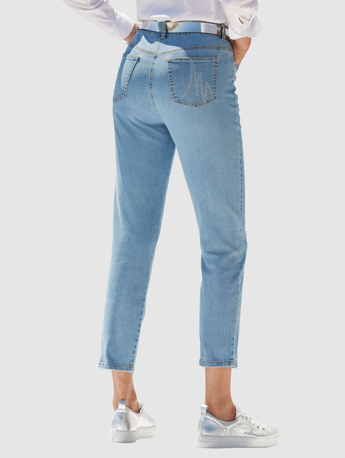 MONA Jeans with rhinestone detailing, Light Blue