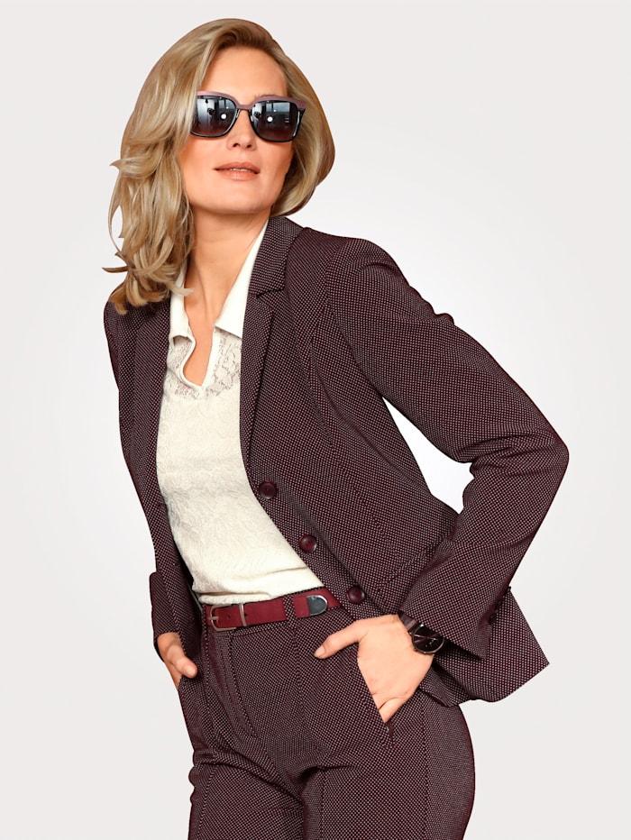 Jersey blazer in a minimal jacquard