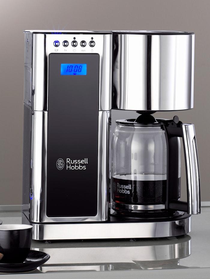 Russell Hobbs Digitale Glas-Kaffeemaschine 'Elegance', Silberfarben/Schwarz