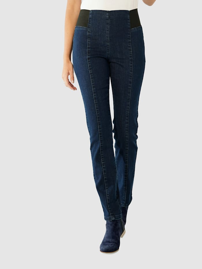 Paola Schlupfjeans mit breitem Teildehnbund für mehr Komfort, Dark blue
