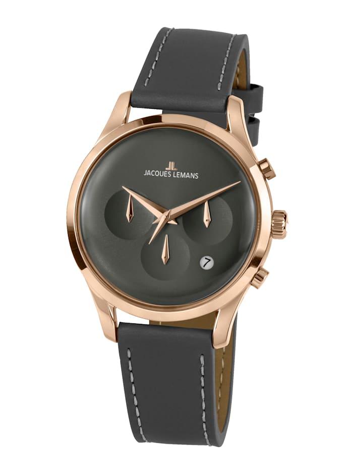 Jacques Lemans Herren-Uhr Chronograph Serie: Retro Classic, Kollektion: Retro Classic: 1- 2067E, Grau