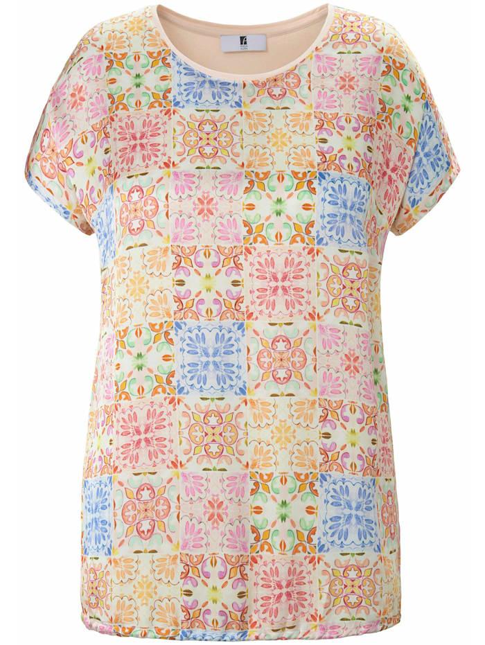Anna Aura Blusenshirt Blusen-Shirt mit überschnittener Schulter ., apricot/multicolor