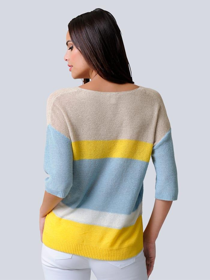 Pullover in feinem Bändchengarn