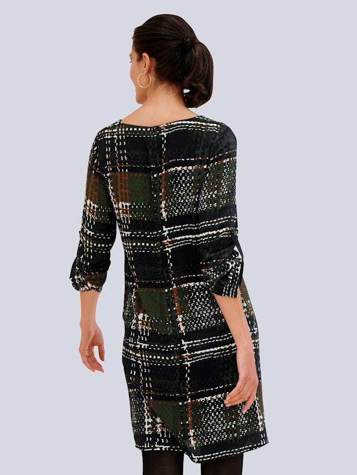Kleid allover im neu designtem Karomuster