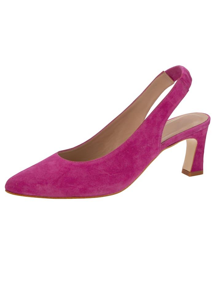 Gennia Sling aus feinem Ziegenveloursleder, Pink