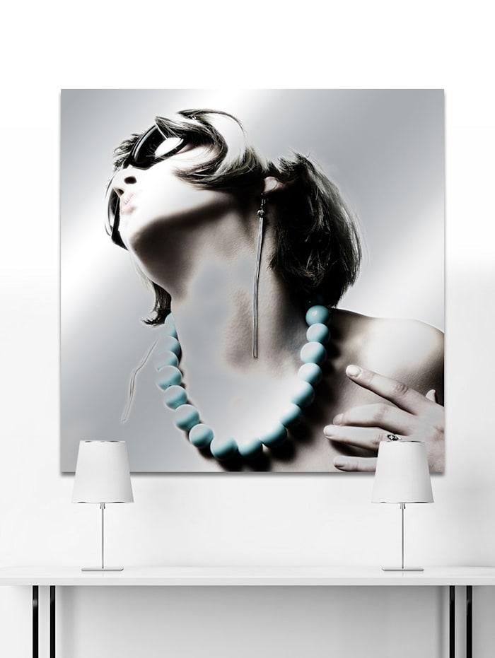 Acrylglasbild, Frau