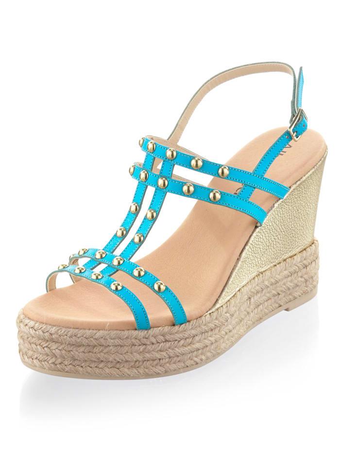 Alba Moda Sandaaltje met dunne riempjes, Turquoise