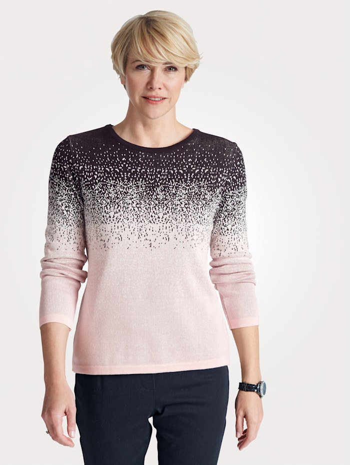 MONA Jumper with colour gradient, Rosé/Black