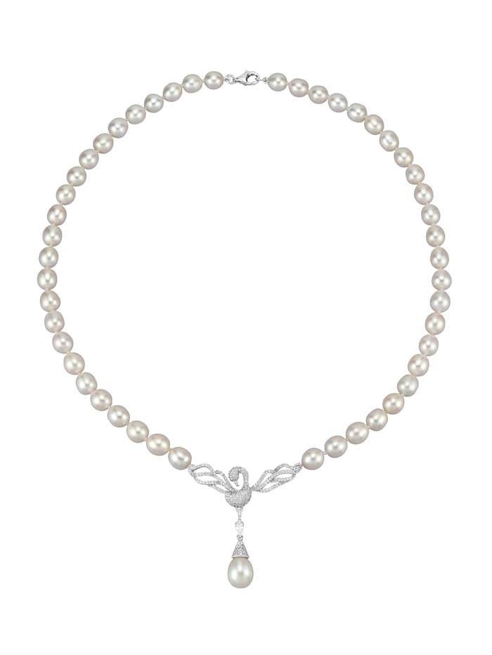Amara Perle Süsswasserzuchtperlen-Collier, Weiß