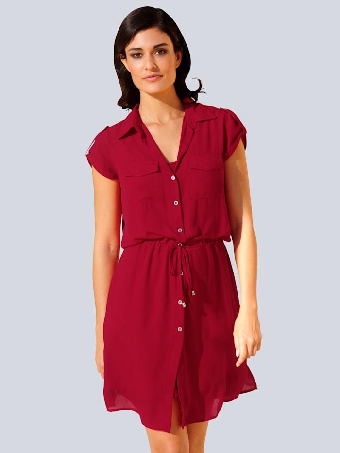 Alba Moda Kleid in leicht fallender Chiffonqualität, Rot