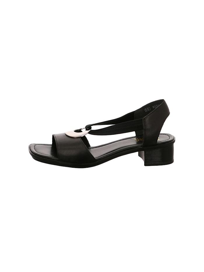 Rieker Damen Sandale in schwarz, schwarz