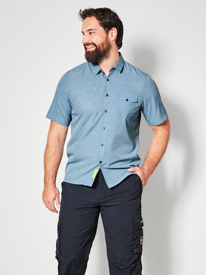 Killtec Overhemd van sneldrogend materiaal, Blauw