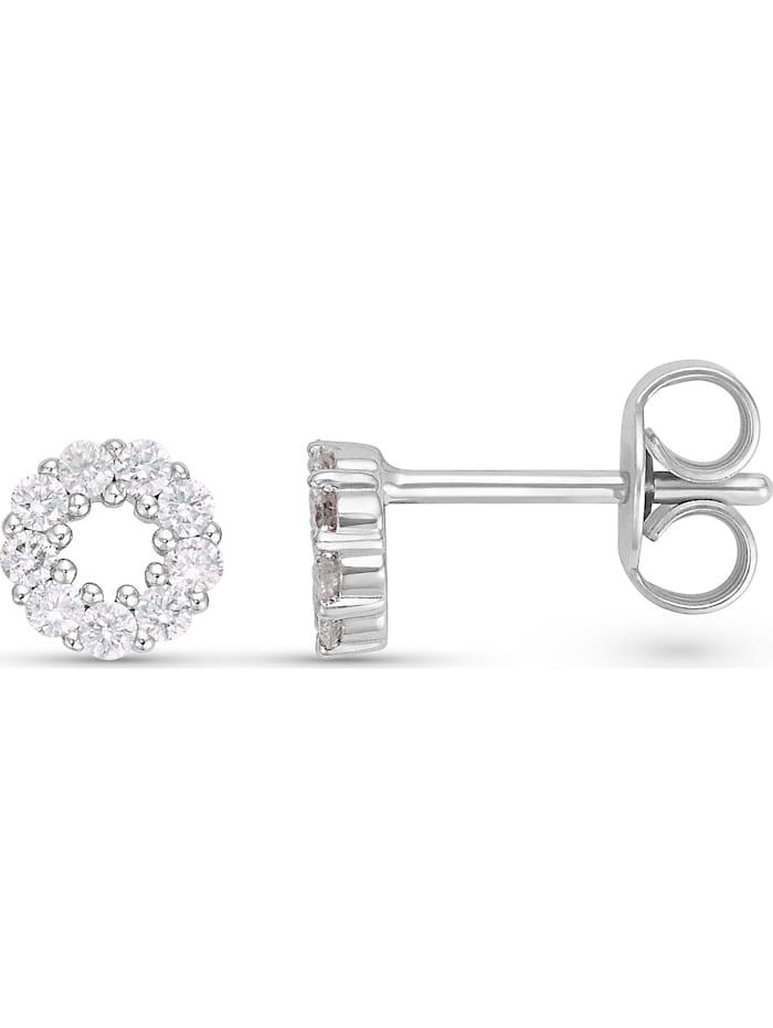 CHRIST Damen-Ohrstecker 585er Weißgold 18 Diamant